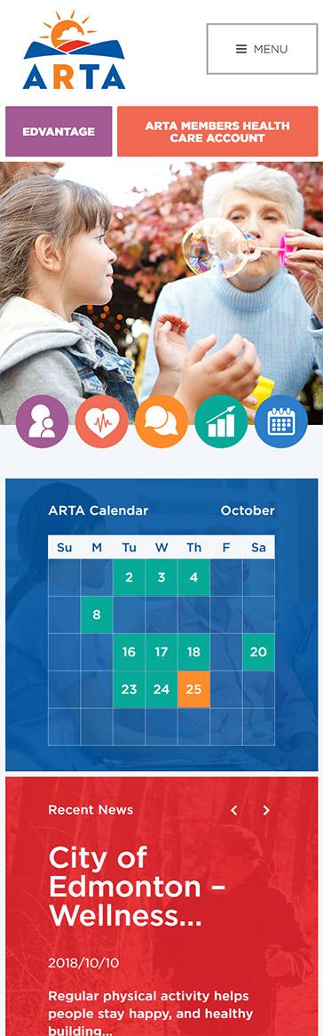 Mobile design mockup of ARTA website by SAVIAN