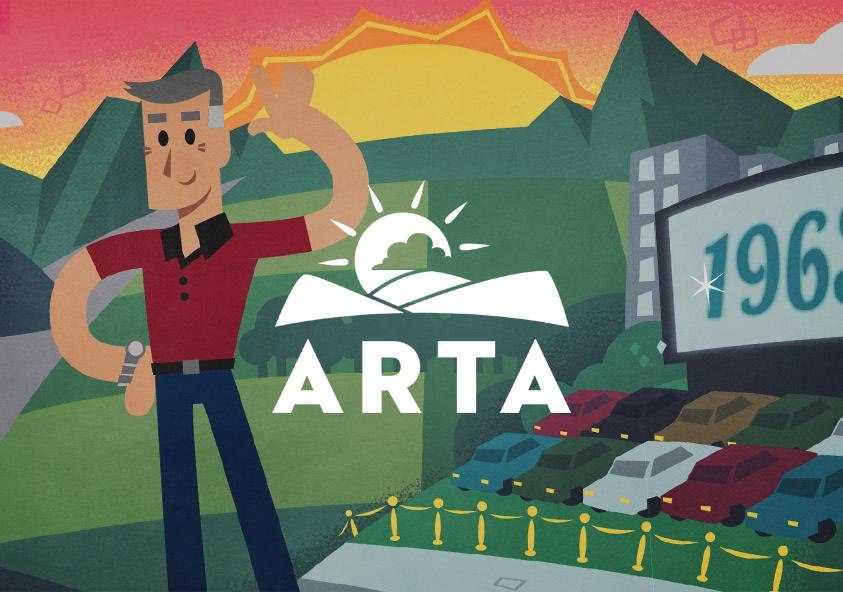 ARTA illustration and animation banner